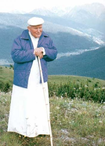 The hiking trails of Pope John Paul II.